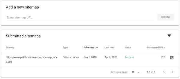 google search console add sitemap