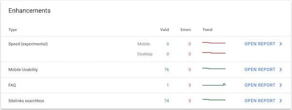 google search console enhancements