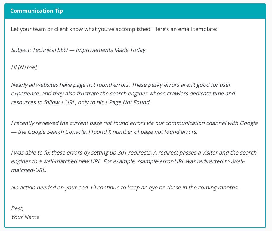Communication Tip