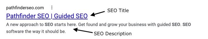 Google search result pathfinder